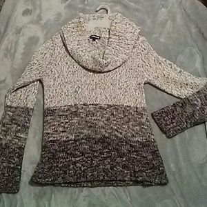 Block marble sweater